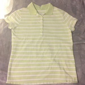 Tops - Light green and white stripped polo/ tee